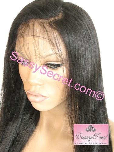 Light Yaki Glueless Full lace Wigs   Sassy