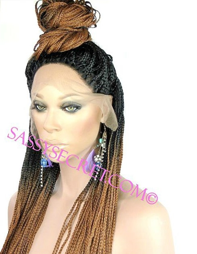 Box Braided Lace Wig Micro Braid Lace Wig Sassy Secret