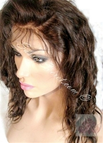 Remy full lace wig, Spanish wave pattern, color number four, sixteen inch length