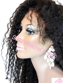 Glueless remy lace wig