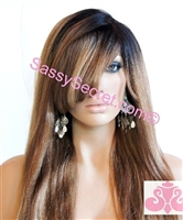Remy Lace front wig, colors 1 1B or 4, straight, yaki hair texture, length 18 inches.