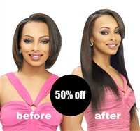 clip in hair extensions, 14 inch length, color 1B, silky straight