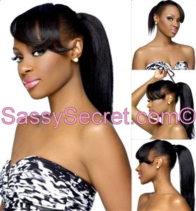 Wrap Around Pony tail- Indian Remy