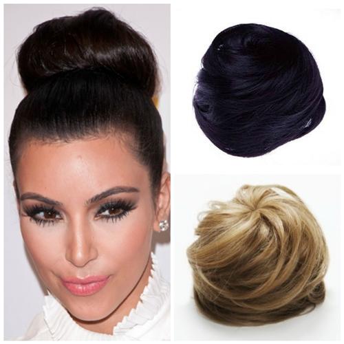 African American Hair Clip On Buns