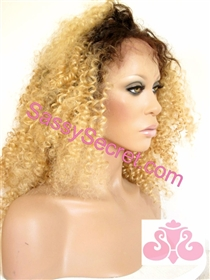 Blonde ull lace wig