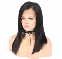 Light Yaki Full lace wig, lace wig with layers, color 1b, kIMORA by Sassy Secret