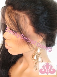 "Glueless Full lace wig, light yaki hair texture, 20"" straight hair, color #1B , Dina by Sassy Secret"