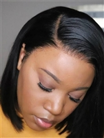 "Glueless Human hair wig, 22"" length, soft body curl, color 1b, Chloe by Sassy Secret"