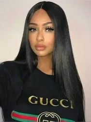 "Glueless Human hair wig, 22"" length, soft body curl, color 1b, Leanna by Sassy Secret"