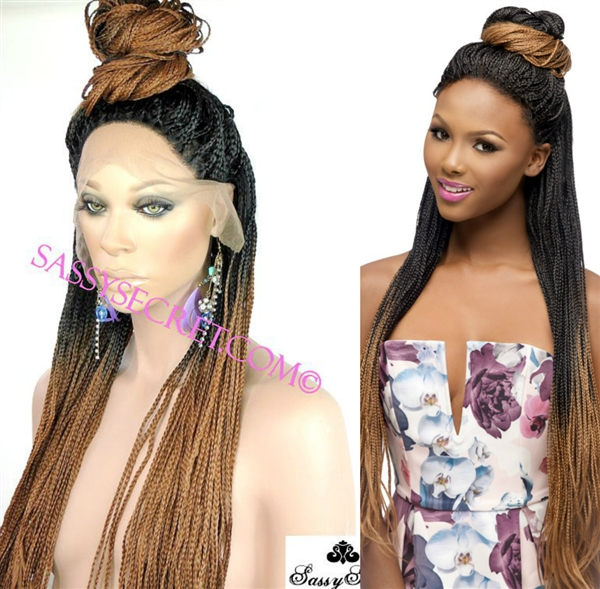 Box Braided Lace Wig Micro Braid Lace Wig Sassy Secret
