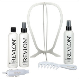Lace Wig Kit by Revlon, Includes:  1 Folding Wig Stand, 1 Wig Lift Comb, 1 Folding Wig Brush, 1 texture cleanser 8 oz., 1 Styling Spray 8 oz., 1 Dual Conditioner 8 oz.