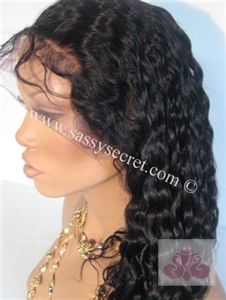 Glueless Full lace wig, deep curl, color 1B or 3.