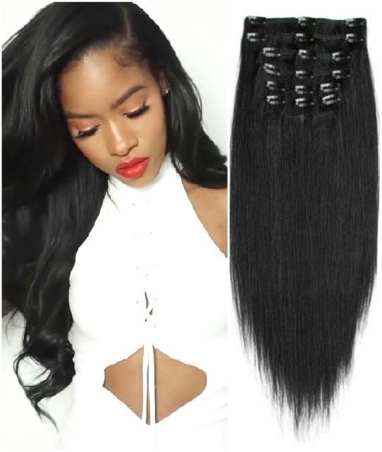 Yaki Indian Virgin Hair Clip In Extensions