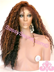Two Tone Synthetic Lace Wig