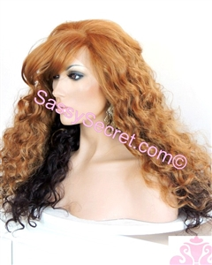 Two Tone Synthetic Lace wig with side bangs
